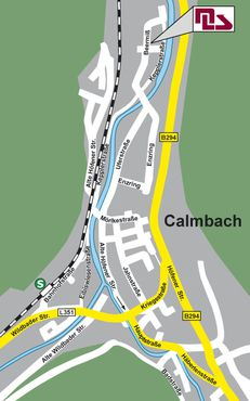 Street map of Calmbach near of Bad Wildbad